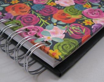 Sketch Journal - Blank Journal - Graph Notebook - Bullet Journal -  Lined Notebook - Triple Journal - Squared Journal - Notebook - Floral