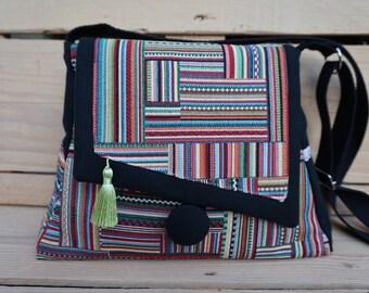 Patchwork purse multicolor ethnic spirit