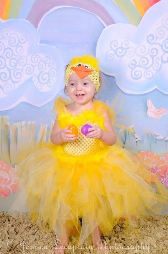 Artículos similares a Easter Dress - Rubber Duckie Headband - Duck Costume - Photo Prop - Duck Costume - Toddler Tutu Dress - Baby Duck costume en Etsy  sc 1 st  Etsy & Artículos similares a Easter Dress - Rubber Duckie Headband - Duck ...