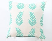 fern leaf print colorful throw pillows tropical fern paradise green SALE