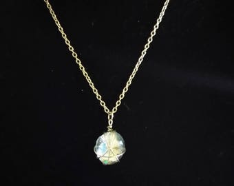 Flat marble necklace