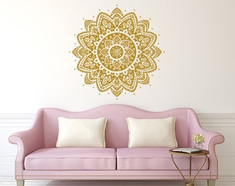 Wall Decal Mandala Vinyl Sticker Decals Lotus Flower Home Decor Boho Bohemian Bedroom Ornament Moroccan Pattern : wall decal patterns - www.pureclipart.com