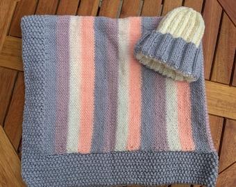 Blanket & Matching Hat Set
