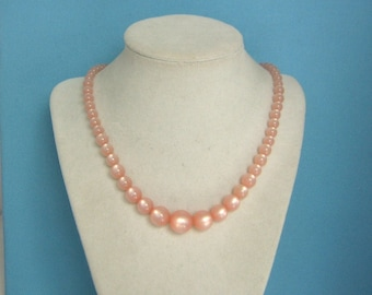 Pink Moonglow Beaded Necklace