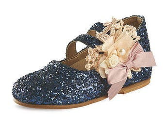 Blue shoes baby girl shoes LEATHER shoes greek baby wedding shoes baby Unique kids shoes baptism shoes size 4 5 6 7 8 9 US EU for girls