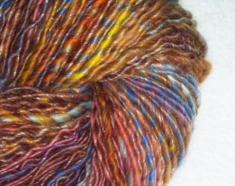 Mother's Dream Luxury Art Yarn - 175 yards - Handspun - Single-Ply - Worsted to Bulky Weight - Knitting - Crochet - Fiber Arts, etc.