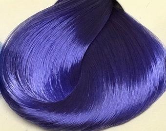 Nylon Doll Hair, Deluxe OOAK, True Blue, Rerooting