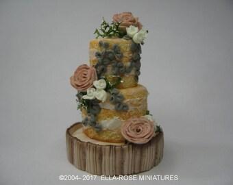12th scale miniature Rustic Wedding Cake