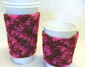 Venti Coffee Cozy Sleeve, Insulated Cup Cover,Mug, Birthday Gift, Grande, Venti, 16-20 oz, Beverage Cup Cover, Pinks for Starbucks Lover
