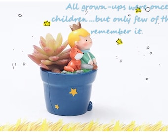 The Little Prince Series E - The Little Prince and Fox resin pot