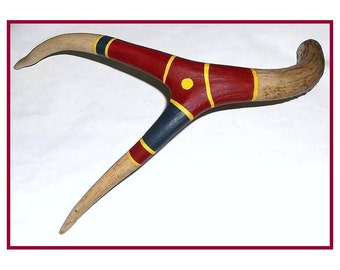 Native Style Painted Antler Art