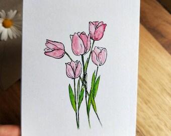 Tulip Watercolour Print