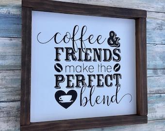 Coffee Bar Sign, Coffee Sign, Coffee Gift, Coffee Wall Art, Coffee Lovers, Coffee Friends, Coffee Bar Decor, Coffee Kitchen Sign