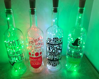 Halloween light up bottles