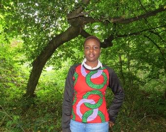 African Print Ankara Jersey Top