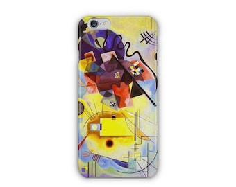 Case for iPhone 8, iPhone 6s,  iPhone 6 Plus,  iPhone 5s,  iPhone SE,  iPhone 5c,  iPhone 7  - Yellow Red Blue By Kandinsky