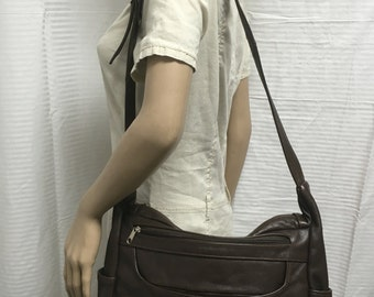 Large brown leather bag, purse, Made in Mexico,  shoulder bag, bags, purses