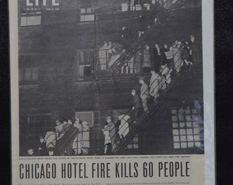 Chicago hotel fire featured in 1946 Life Magazine