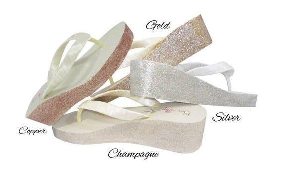 you Champagne Wedges Mrs pick Vegas colors amp; Wedges Last Name Gold Glitter Ivory vqOd5v