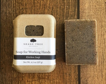 Coffee Kitchen Soap. Hand Soap Bar. Coffee Scrub Bar. Unscented Soap. Odor Eliminator. Hostess Gift. Gift for Mom. Garlic Soap. Deodorizer