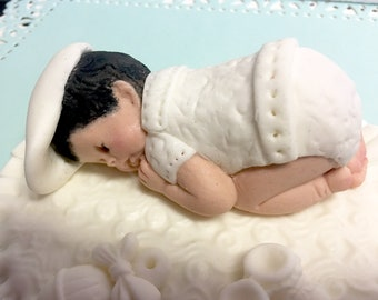 This Extra Large Baby can be at your party Baptism, Birthday, Christening, baby shower, cake topper, first birthday