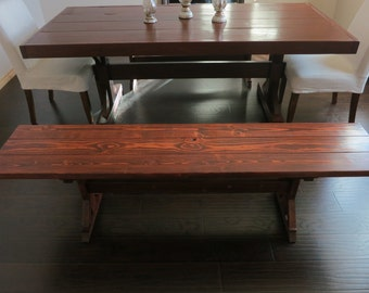 Farm Style Dining Room / Kitchen Bench