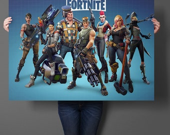 Fortnite Hot Game Art Prints Silk Fabric Poster And Print Wall Art Picture Painting Home Decor Sticker for Living Room & Silk wall art | Etsy