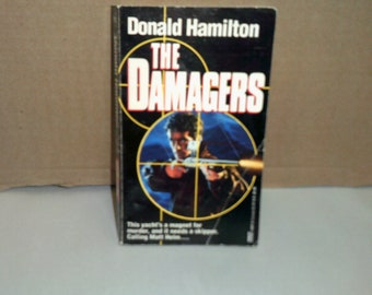 The Damagers by Donald Hamilton RARE 1993 first paperback edition