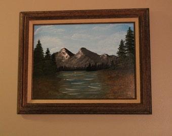 "Original Acrylic Painting on Canvas - Framed - Original Artwork - Framed 16"" X 20"" (12"" X 16"" Canvas) - titled ""Serenity"""