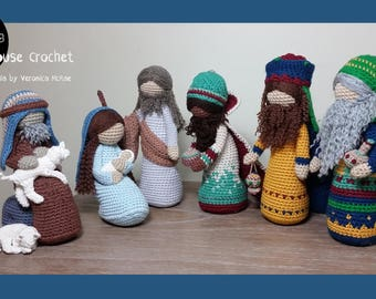Nativity Package Deal. Empty Nest, Little Sparrow, Mother nursing newborn, Mary and baby Jesus, Joseph, 3 Wise men, Shepherd and Lamb