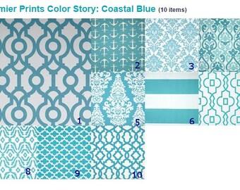 Blue Table Runner Home Decor Coastal Blue  12 x 72 inches  Wedding Runner Beach  Runner Bridal Shower  Runner