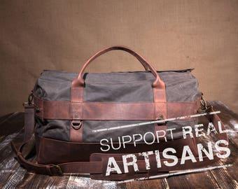 Mens Weekender Bag, Travel Bag for Men, Canvas Weekender, Mens Travel Bag
