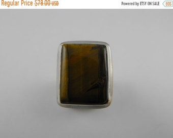 TAX Season Sale Gorgeous large Tiger's Eye Sterling Silver Statement Ring