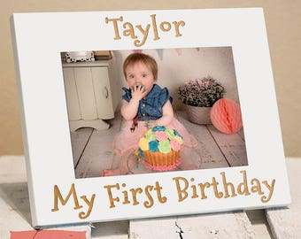 My First Birthday - Baby Picture Frames - First Birthday Boy - First Birthday Girl - First Birthday Gift - Picture Frame for Baby - Birthday