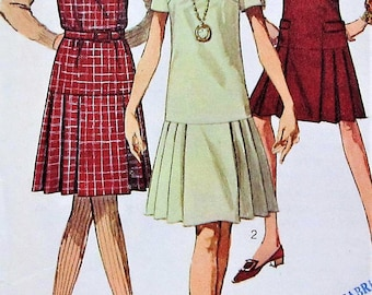 Vintage Jumper and Dress Sewing Pattern Simplicity 7254 Size 10