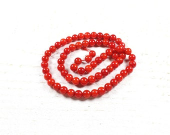 10 natural dyed coral beads approximately 6mm LBP00389