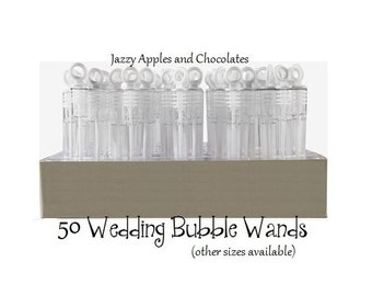 Wedding Bubble Wand Favors