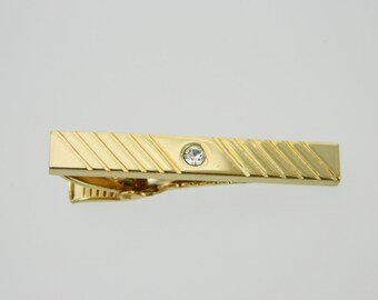 Gold Alpha Tie Clip