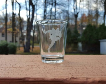 Captain Falcon Silhouette SSB4 Etched Shot Glass