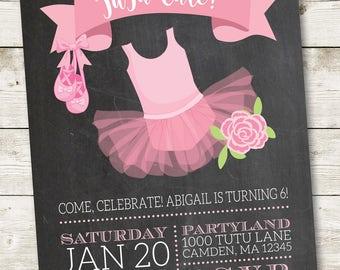 Pink Tutu Invitation/Ballerina Invitation/Ballerina Birthday/Pink Ballerina Birthday/1st Tutu Birthday/Ballerina Party Invite/#003