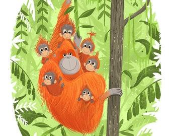 Charity Print for Orangutan Protection Fund
