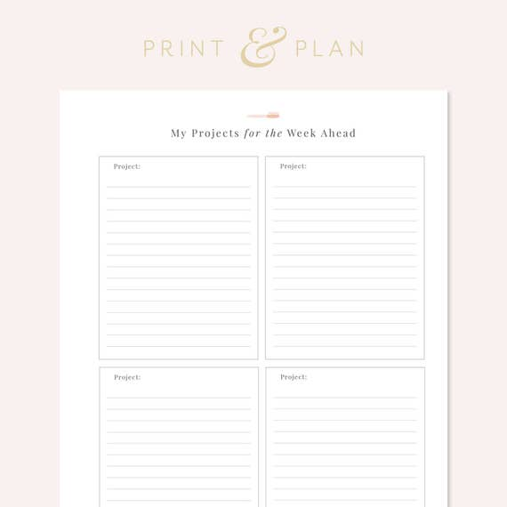 Project To Do List Project Planner To Do List Printable