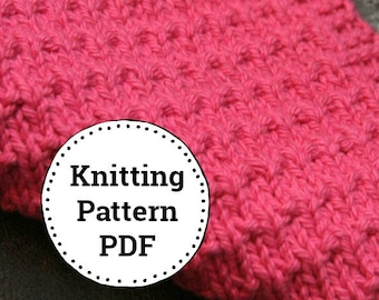 KNITTING PATTERN-Chelsea, Dishcloth Pattern