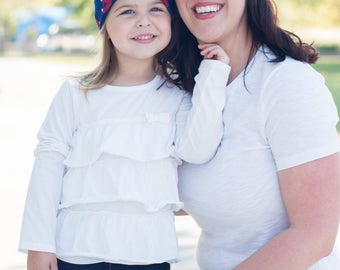 Mommy and Me Outfits - Matching Mother Daughter Outfits - Mommy and Me Headband - Matching Mommy Daughter Set - Matching Headband Set