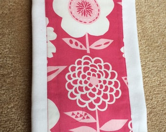Pink Flowers Burp Cloth