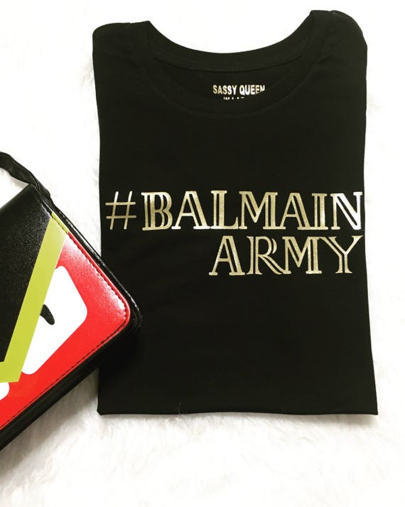 Balmain Army / Statement Tee / Graphic Tee / Statement Tshirt / Graphic Tshirt / T shirt