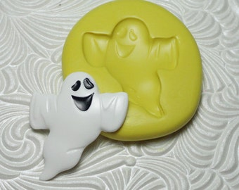 HALLOWEEN GHOST Silicone Rubber Push Mold for Resin Wax Fondant Clay Ice 1701
