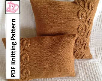 PDF KNITTING PATTERN, knit pillow cover pattern, knitted cushion cover pattern