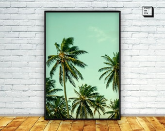 Palm tree print, Palm Tree Wall Art, Palm print, Tropical Print, Tropical Wall Art, Photography Print, Instant download, Wall Art, Wall Art
