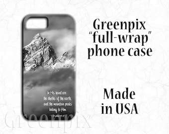 inspirational bible verse phone case, Psalm quote scripture, Grand Teton mountains photo, iPhone X, iPhone 8, iPhone 7, i Phone 6 6S, Plus